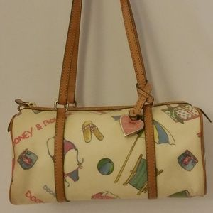 Dooney & Bourke Cream Miami Beach Barrel Bag